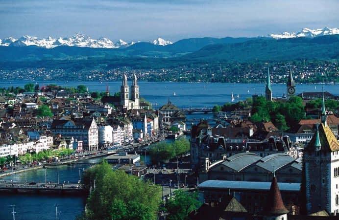 Zürich y el lago Zürich