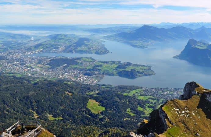 Lucerna , las Cataratas del Rhin y el Monte Pilatus