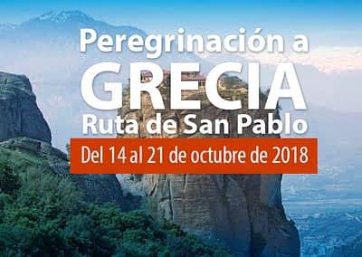 Peregrinación a Grecia. Ruta de San Pablo.  Del 14 al 21 de octubre 2018